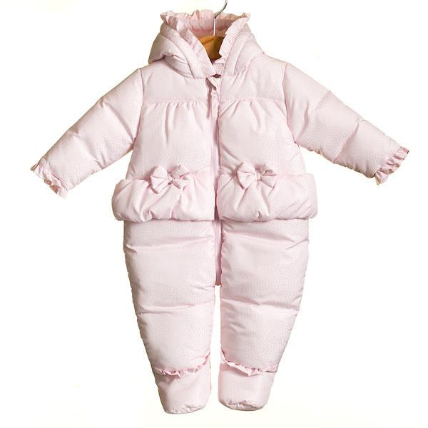 AW18 Zip Zap Baby Girls Pink & Silver Snowsuit MM0031