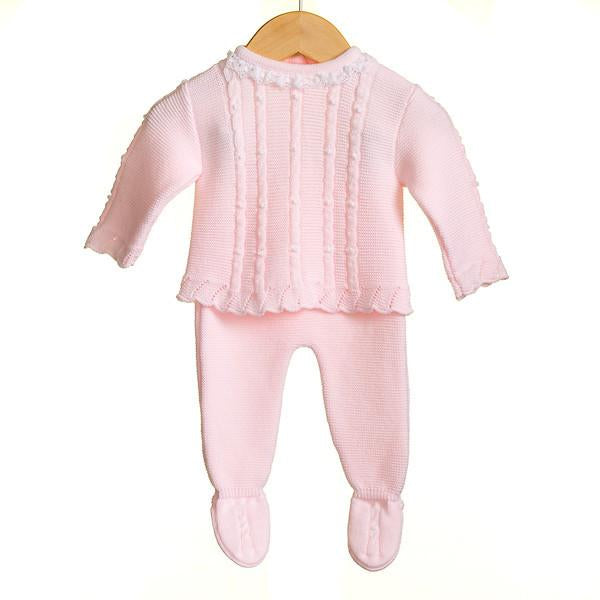 AW18 Zip Zap Baby Girls Knitted Two-Piece Set MM0301