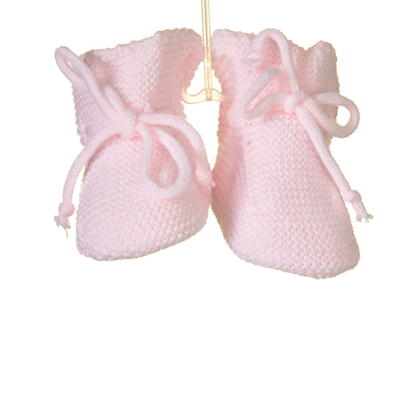 Blues Baby Pink Knitted Booties
