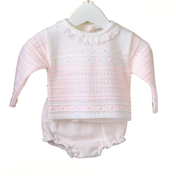 AW18 Zip Zap Baby Girls Pink & Cream Jam Pants Set MM0335