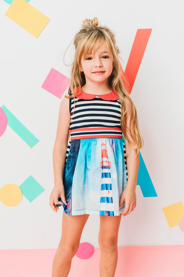 SS20 Rosalita Girls Montmorency Lighthouse Dress