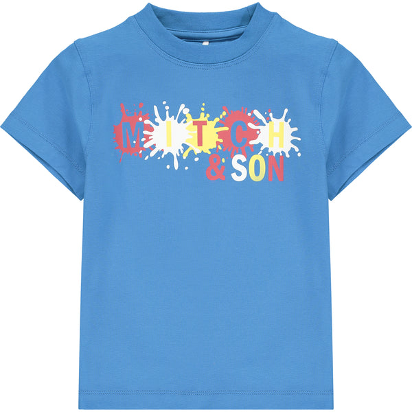 SS21 Mitch & Son Boys Castle Blue Paint Splash T-Shirt