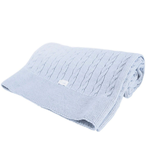 Uzturre Blue Knitted Blanket