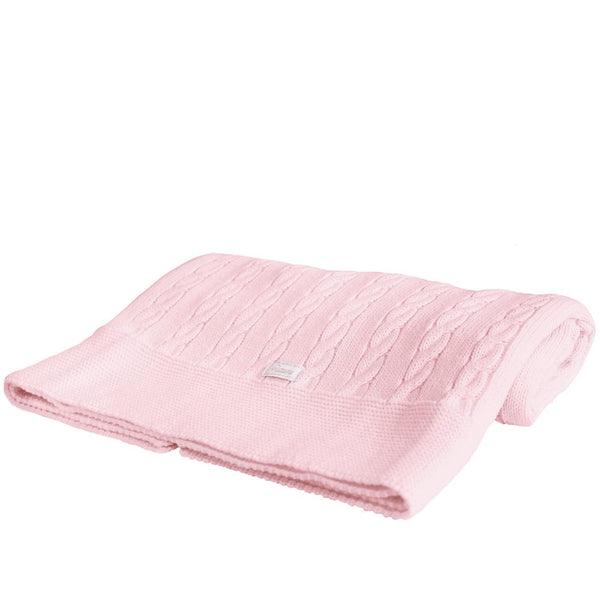 Uzturre Pink Knitted Blanket
