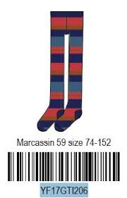 AW17 Oilily Girls Marcassin Malliot 59 Multicolour Stripe Blue Tights - Liquorice Kids