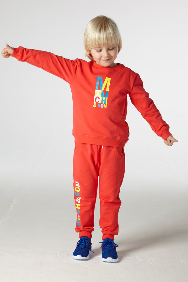 SS21 Mitch & Son Boys Candleriggs Red Logo Tracksuit