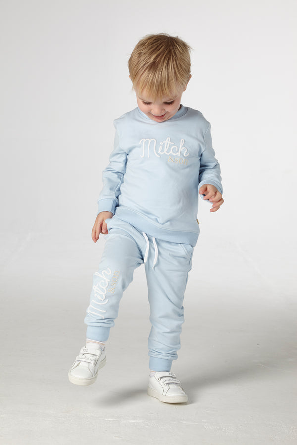 SS21 Mitch & Son Boys Bell Blue Logo Tracksuit