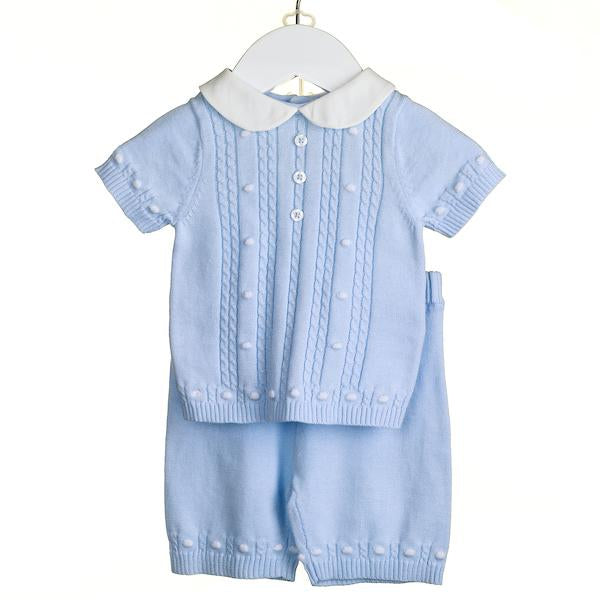 SS18 Zip Zap Baby Boys Knitted Two-Piece Set NN0222
