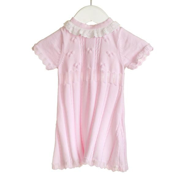 SS18 Zip Zap Baby Girls Pink Knitted Dress NN0231
