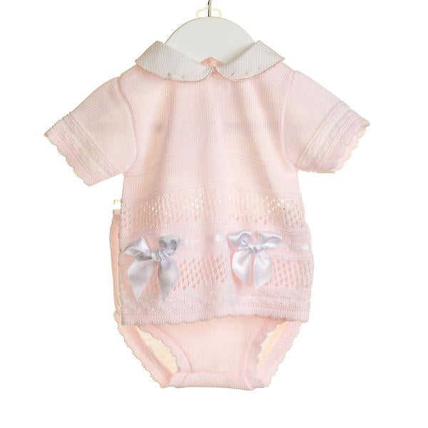 SS18 Zip Zap Baby Girls Pink Two-Piece Knitted Set NN0312