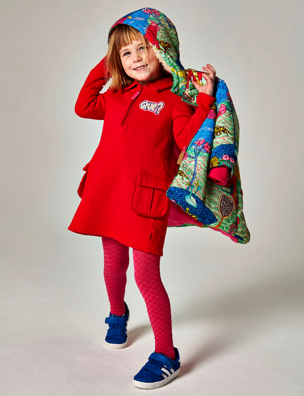 AW18 Oilily Girls Hiba Red Sweat Dress
