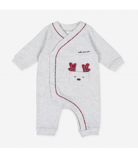 AW20 Tutto Piccolo Baby Grey Reindeer Babygrow 9094