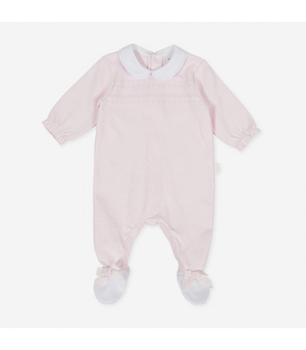 AW20 Tutto Piccolo Baby Girls Pink Babygrow 9182