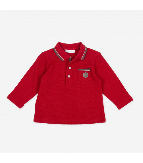 AW20 Tutto Piccolo Boys Red & Grey Boys Polo Set 9720 & 9115