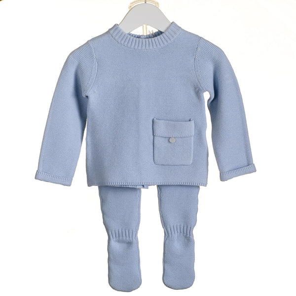 AW18 Zip Zap Baby Boys Knitted Two-Piece Set PP0161
