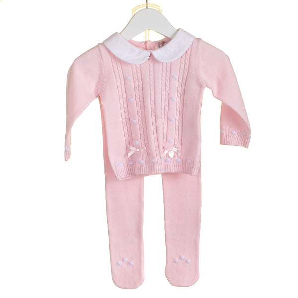 AW18 Zip Zap Baby Girls Pink Cable Knit Set PP0184