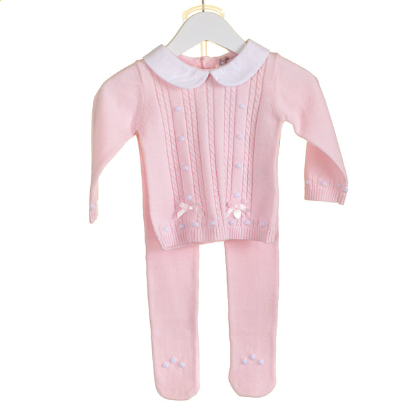 AW20 Blues Baby Baby Girls Pink Knitted Set PP0184