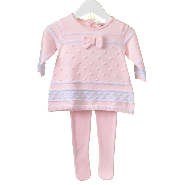 AW18 Zip Zap Baby Girls Pink Knitted Dress & Tights PP0189A