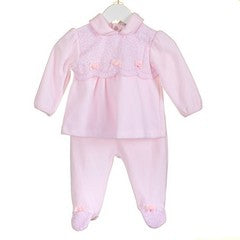 AW18 Zip Zap Baby Girls Pink Velour Set PP0340