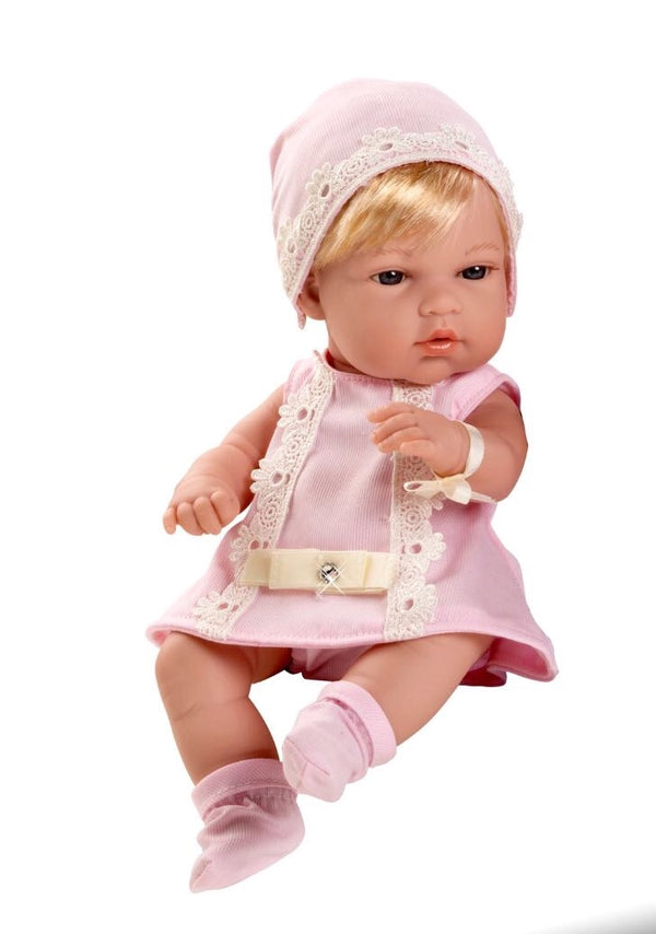 Arias Elegance Limited Edition Swarovski Baby Girl Pink Doll
