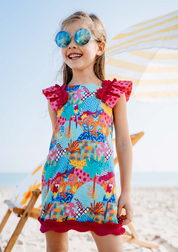 SS21 Rosalita Girls Amity Parrot Dress