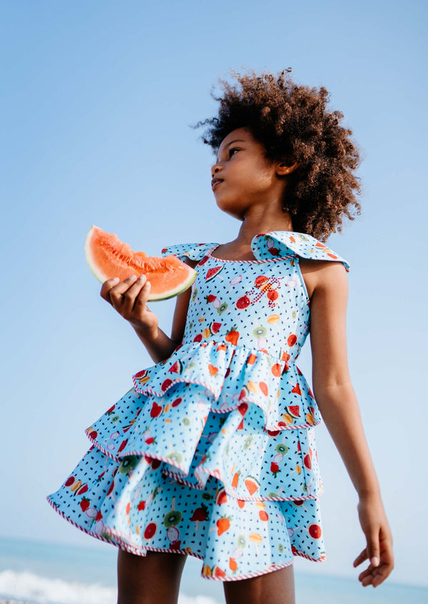 SS21 Rosalita Girls Hay Summer Fruits Dress