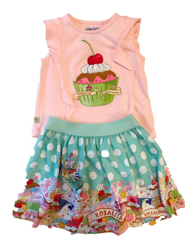 SS18 Rosalita Girls Bigsandy Cupcake Skirt Set