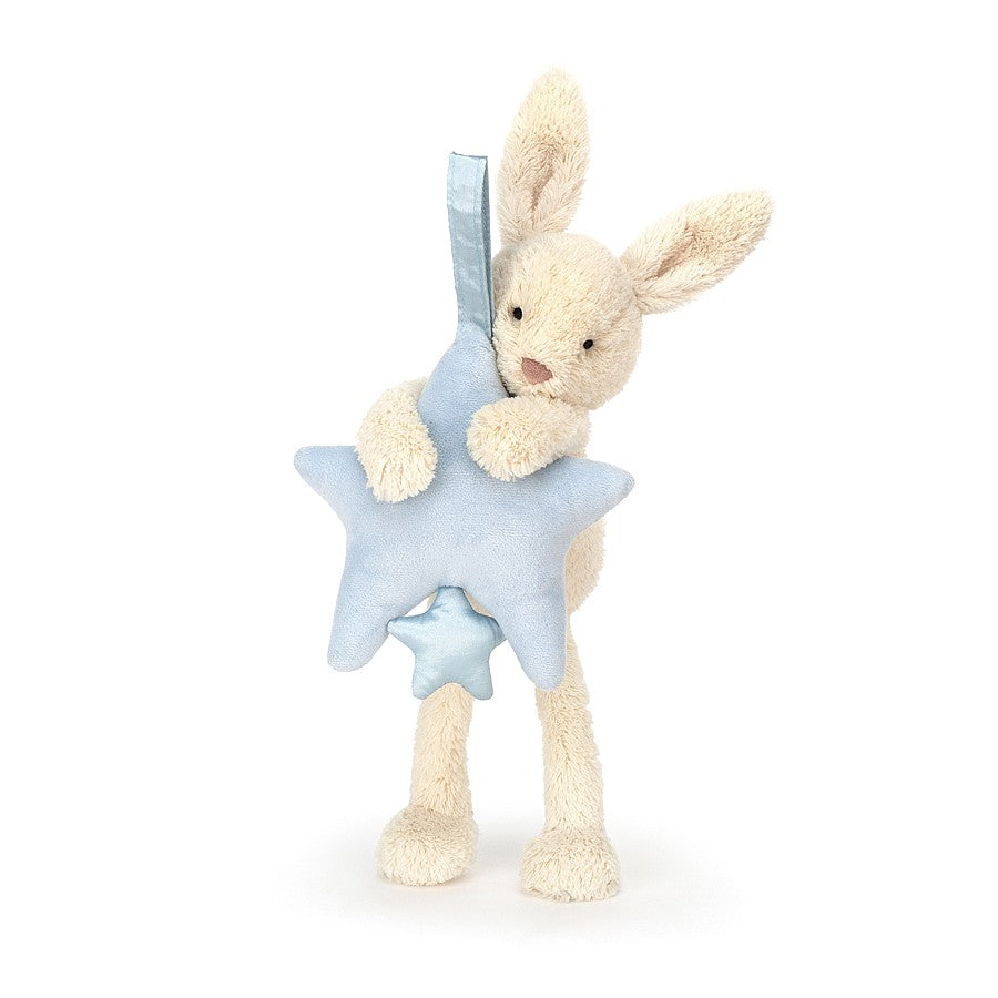 Jellycat Star Bunny Blue Musical Pull