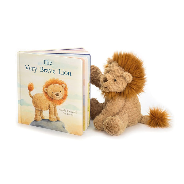 Jellycat Very Brave Lion Book Set