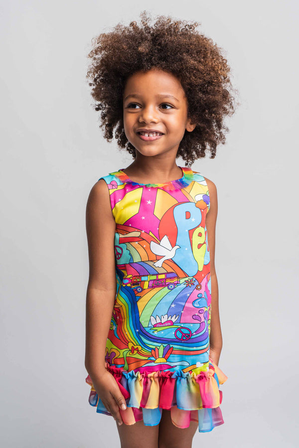 PRE-ORDER SS21 Rosalita Girls Somerset Peace & Love Dress