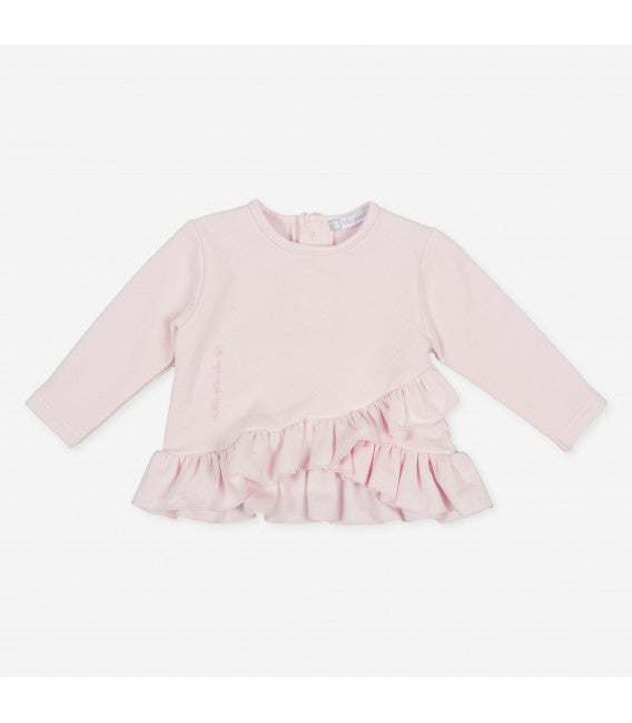 AW20 Tutto Piccolo Girls Pink Ruffle Two-Piece Set 9726 & 9125