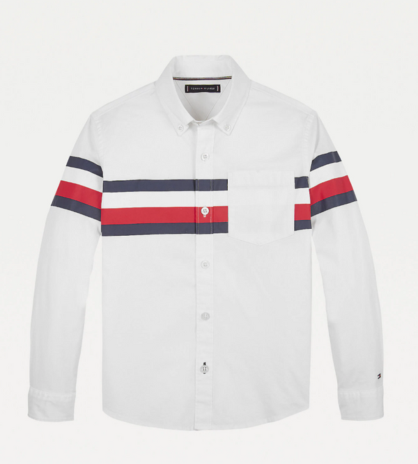 AW20 Tommy Hilfiger Boys White Logo Shirt