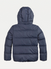 AW20 Tommy Hilfiger Boys Navy Blue Hooded Down Coat