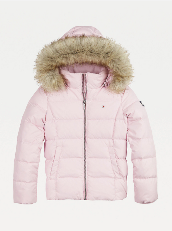 AW20 Tommy Hilfiger Girls Pink Down Coat