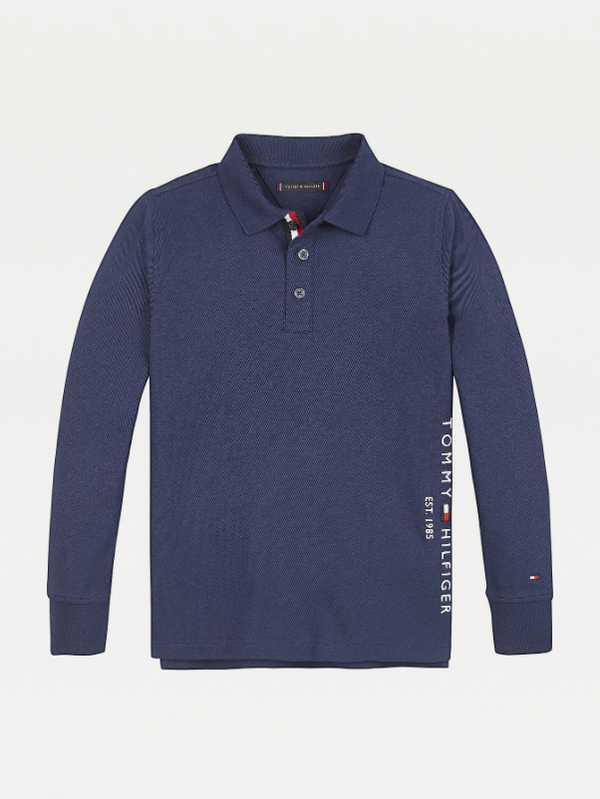 AW20 Tommy Hilfiger Boys Twilight Blue Long Sleeved Polo Top