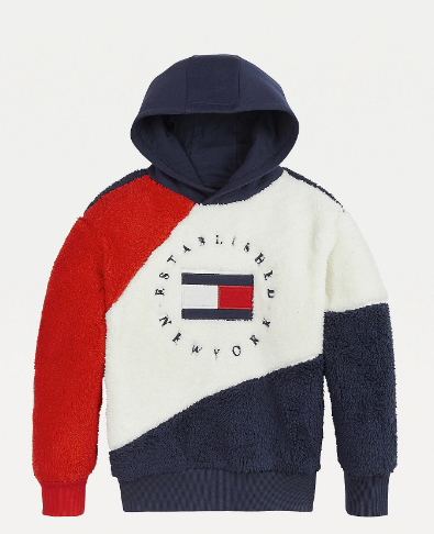 SS21 Tommy Hilfiger Girls Colour Block Hoodie