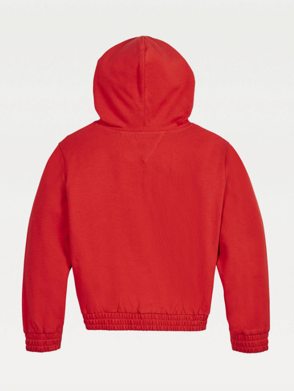 SS21 Tommy Hilfiger Girls Red Embroidered Hoodie