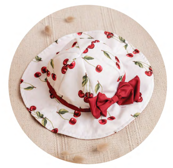 PRE-ORDER SS21 Meia Pata Girls Cherries Sun Hat