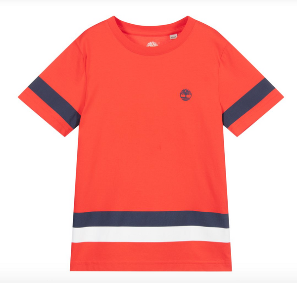 PRE-ORDER SS21 Timberland Boys Red T-Shirt
