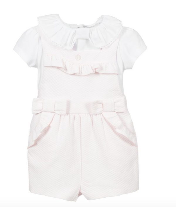 SS21 Patachou Girls Pink Romper Set