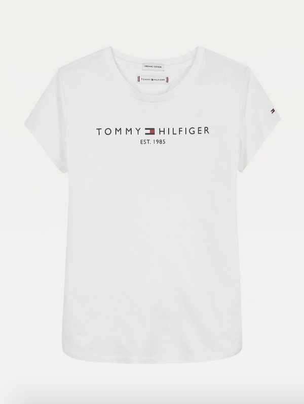 SS21 Tommy Hilfiger Girls White Essential T-Shirt
