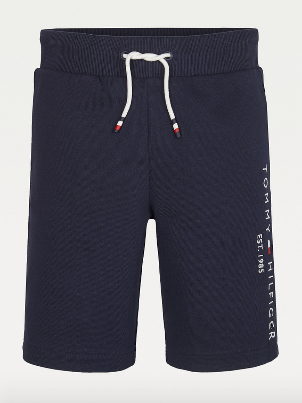 SS21 Tommy Hilfiger Boys Navy Blue Branded Jersey Shorts
