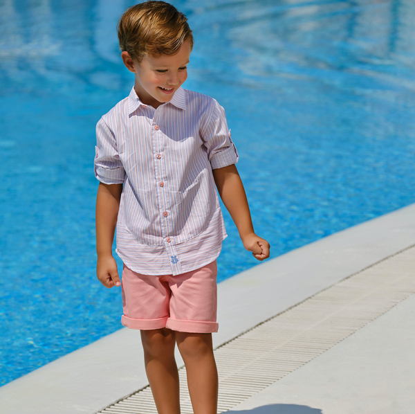 SS21 Tutto Piccolo Boys Coral Shorts Set 1046 & 1318