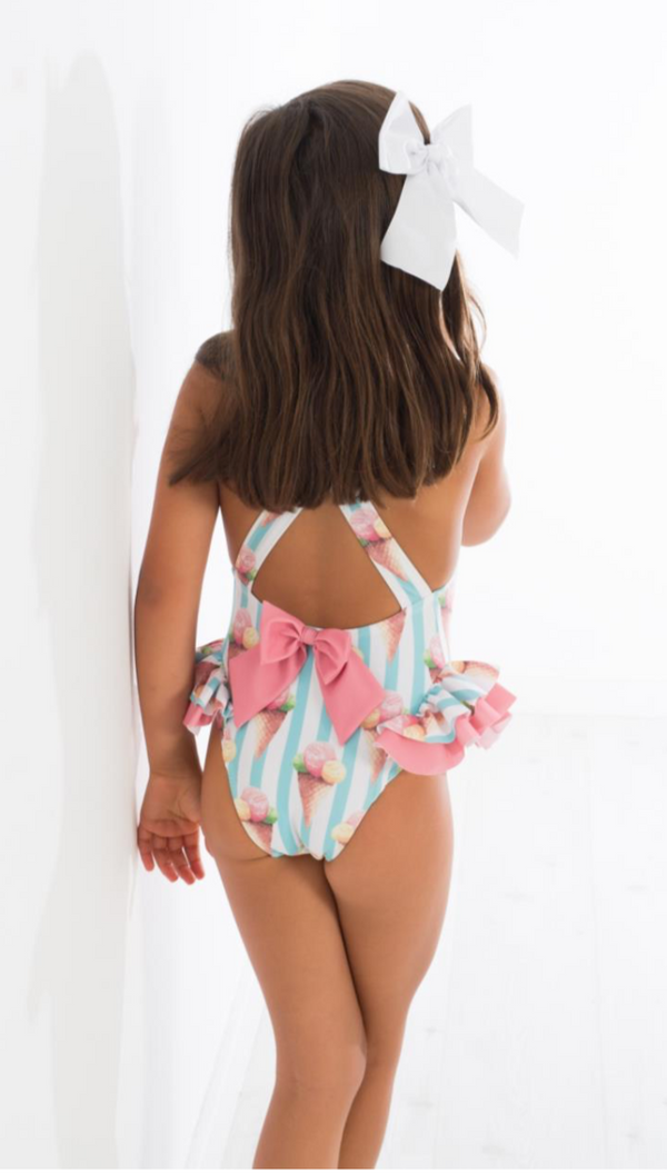 SS19 Girls Paxi Ice Cream Swimming Costume