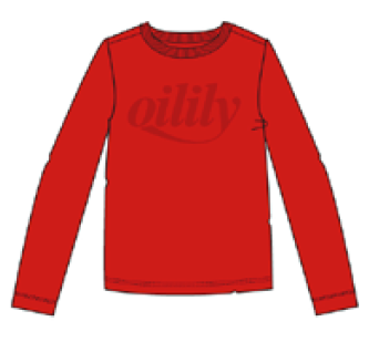 AW20 Oilily Girls Tolsy Red T-Shirt 20