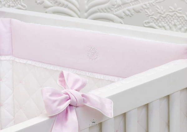 First Pretty Pink Cot Bumper - Liquorice Kids