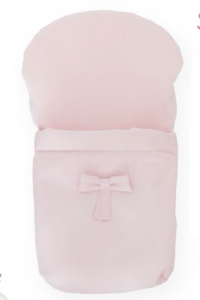 BebeLux Baby Pink 'Sweet Big' Doll's Pram Footmuff