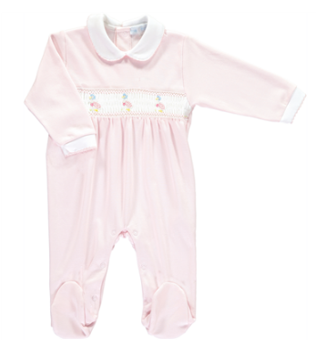 SS18 Mini-La-Mode Baby Girls Jemima Puddle Duck Smocked Babygrow