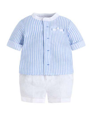 SS18 Mayoral Baby Boys Blue & White Stripe Shorts Set 1114 & 1212