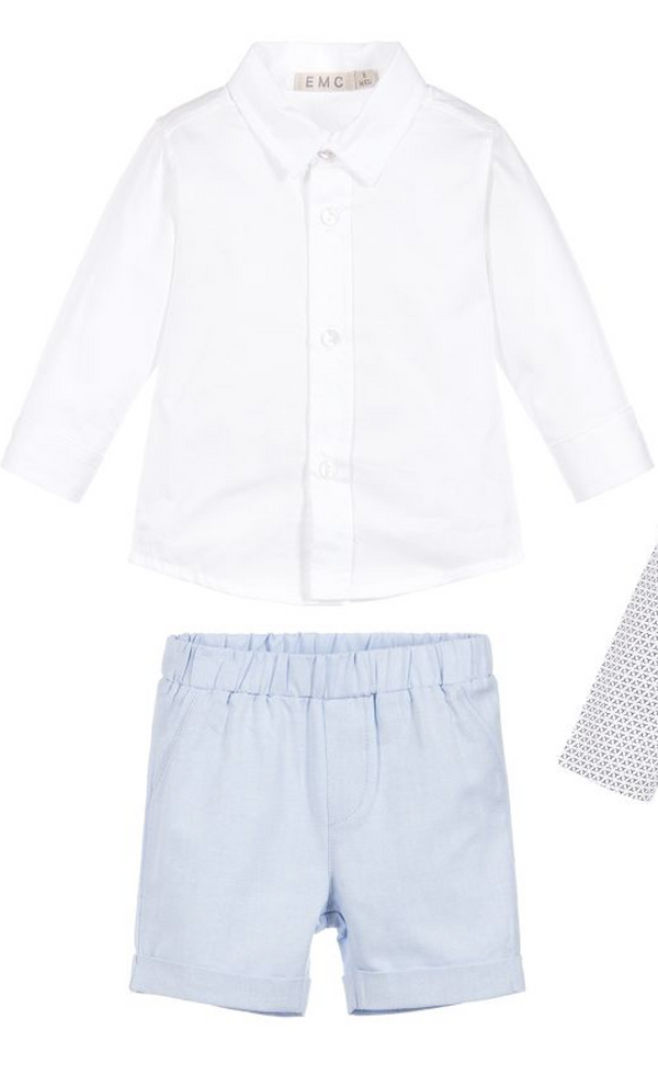 SS18 EMC Baby Boys Blue Blazer, Shorts & Shirt Set 1211 & 1013 & 6191